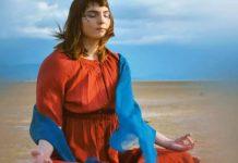 girl meditates