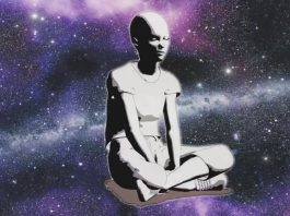 woman in stars